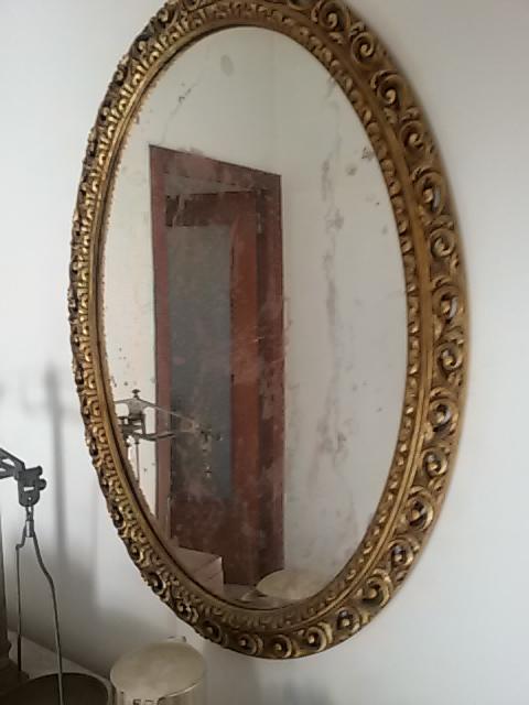 Specchio Dorato Ovale Usato Cagliari Elios96