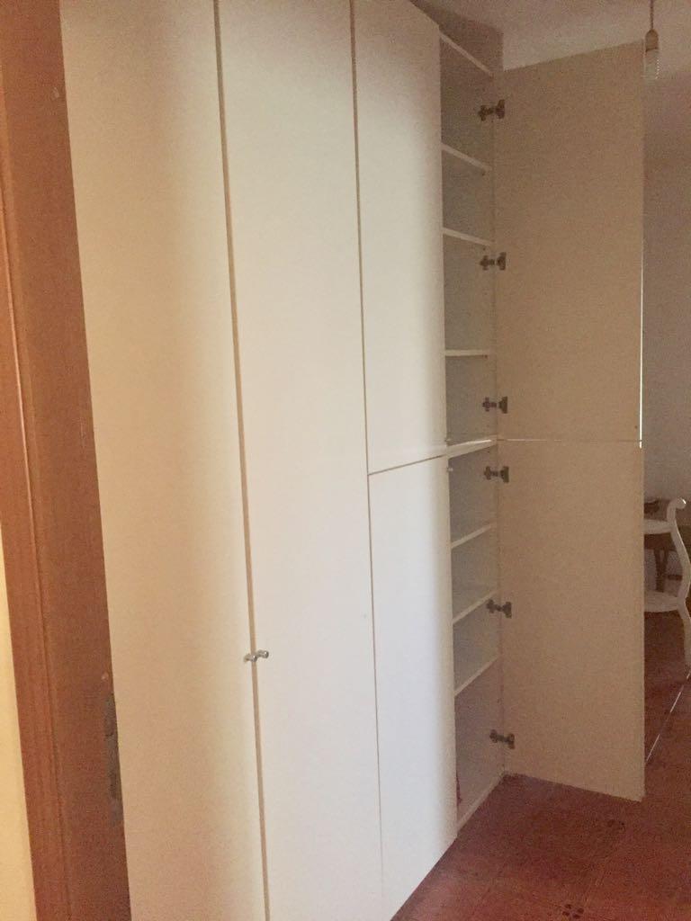Elios96 Sas | armadio bianco 2 ante 4 stagioni ripiani interni | E ...