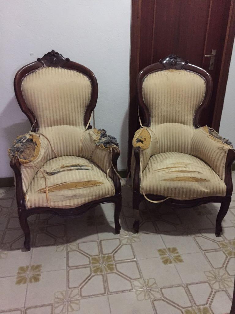 Elios96 sas divano stile luigi filippo da tappezzare e - Tappezzare divano ...