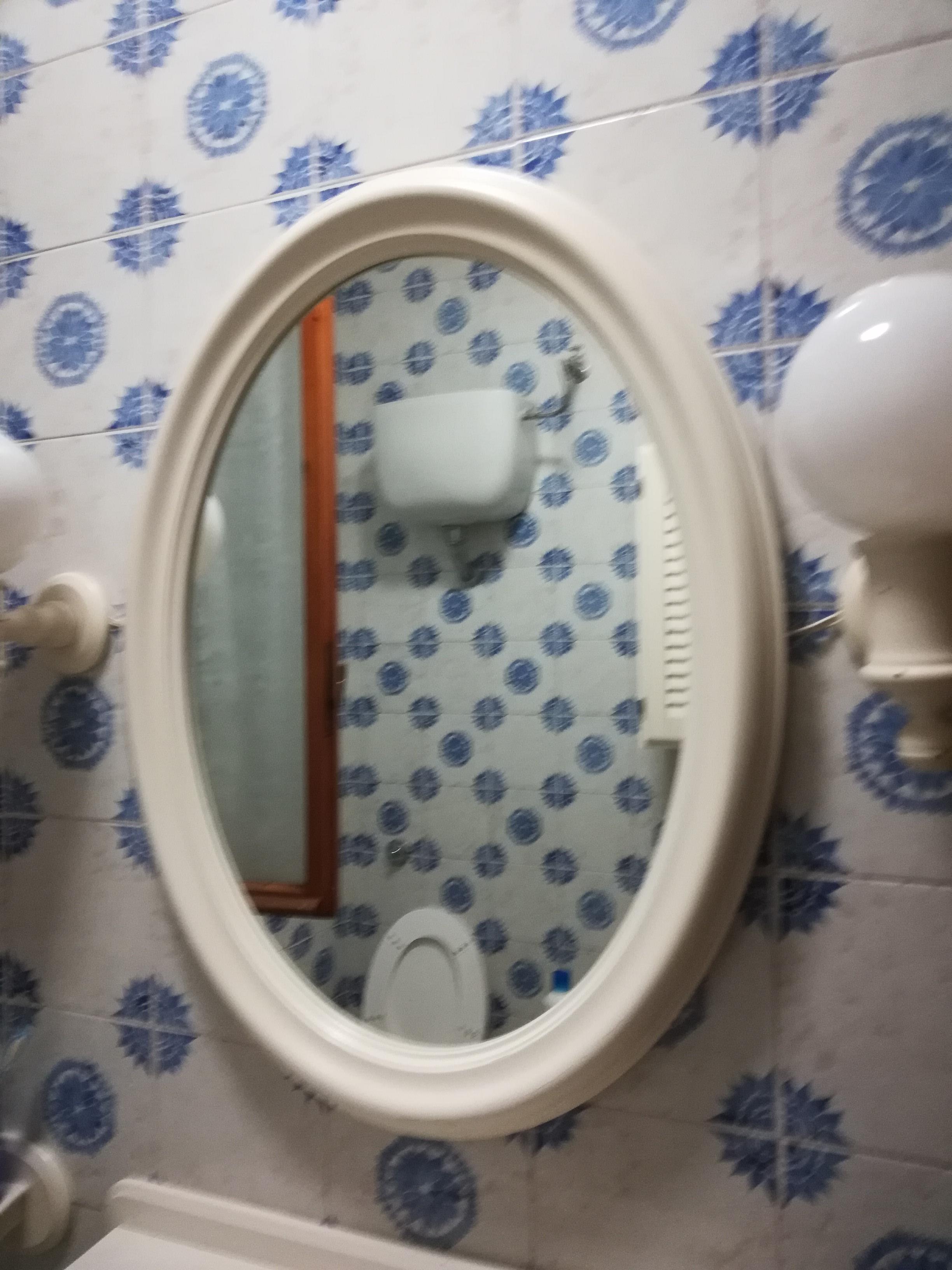 Specchio Bagno Bianco.Elios96 Sas Specchio Bagno Bianco Ovale E Shopper